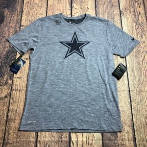 Mens Dallas Cowboys Nike Dri-FIT Cotton Sideline T